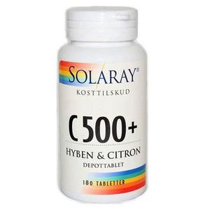 Solaray C500 + Nypon och Citron - 180 tabletter