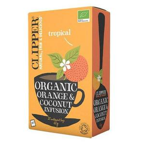Clipper Orange & Coconut te ekologiskt - 20 tepåsar