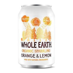 Whole Earth Orange/lemon - 330 ml, ekologisk dryck med fantastisk kombination av apelsin och citron