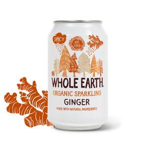 Whole Earth Ginger Soda i burk eko - 330 ml