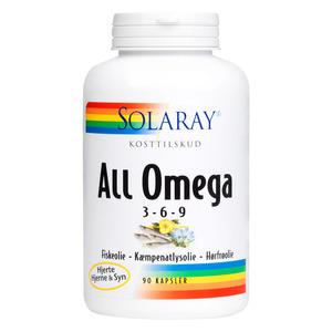 Solaray All Omega 3-6-9 - 90 kapslar