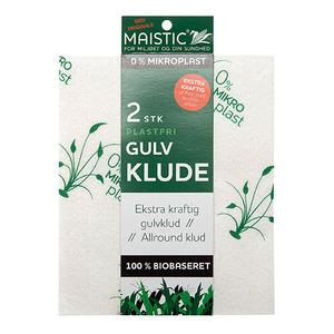 Maistic Floor Cloths Free of Microplastic, en extra tjock och kraftfull version av den välkända Maistic all-purposetrasan - 2 st