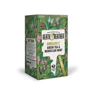Heath & Heather Organic Green Tea & Moroccan Mint eko - 20 påsar