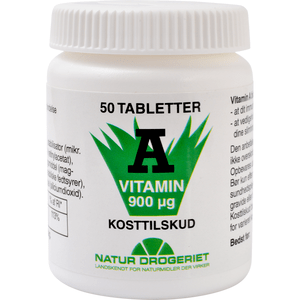 Vitamin A 3000 IE - 50 tabletter