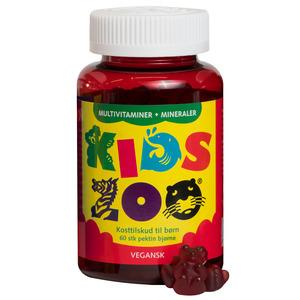 Kids Zoo multivitamin + mineraler vegetabilisk - 60 st